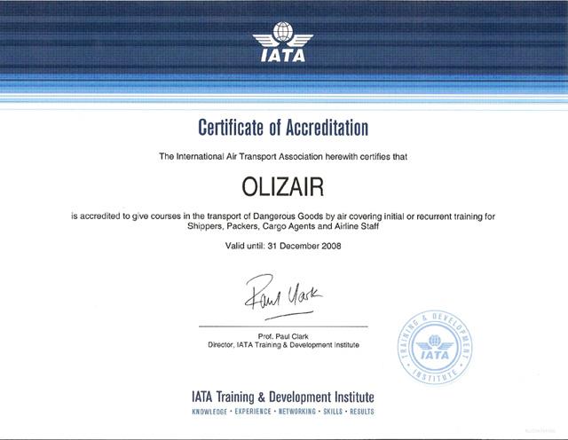 iata training certificate certification representation save
